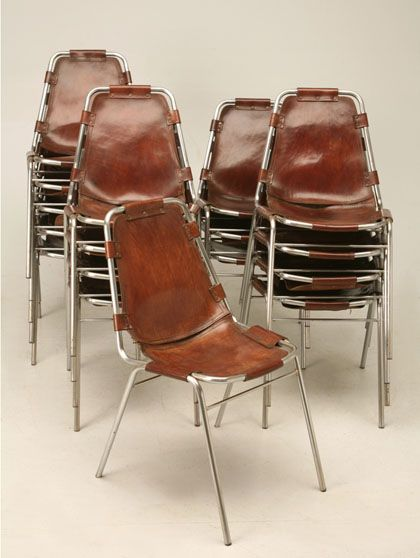 // Charlotte Perriand chairs.