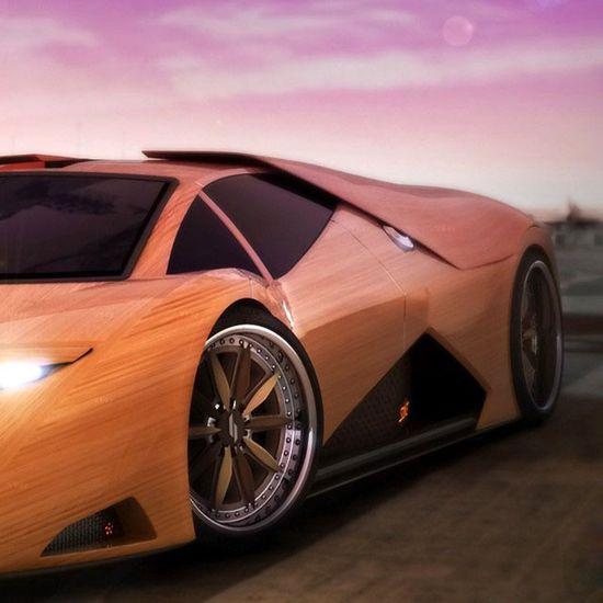 Wooden splinter super car