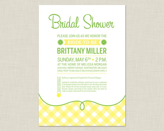 Lemon Bridal Shower Invitation / Summer Bridal Shower. $15.00, via Etsy.