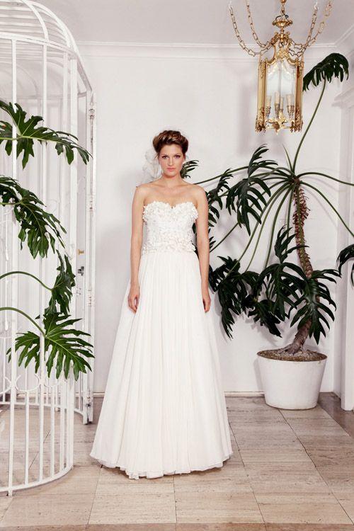 wedding dress by Rachel Gilbert