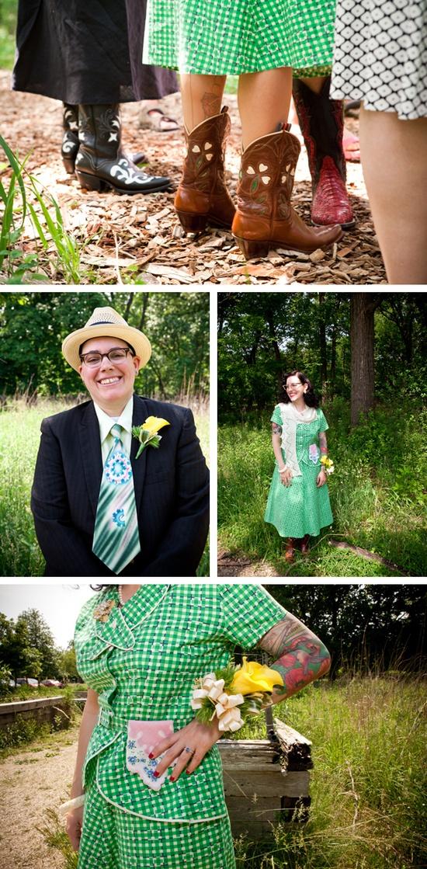 cute outdoor wedding :)