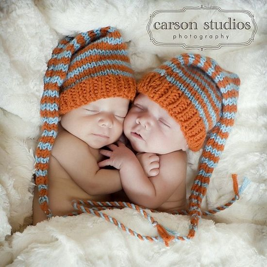 1 Baby Boy Girl HAT Newborn PhoTO PRoP Long tail by MadAboutColour, $28.00