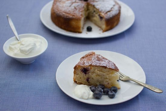 Lemon, Yoghurt and Blueberry Cake from Eat Well New Zealand