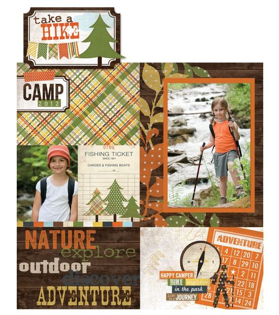 Take a Hike collection from Simple Stories scrapbook layout