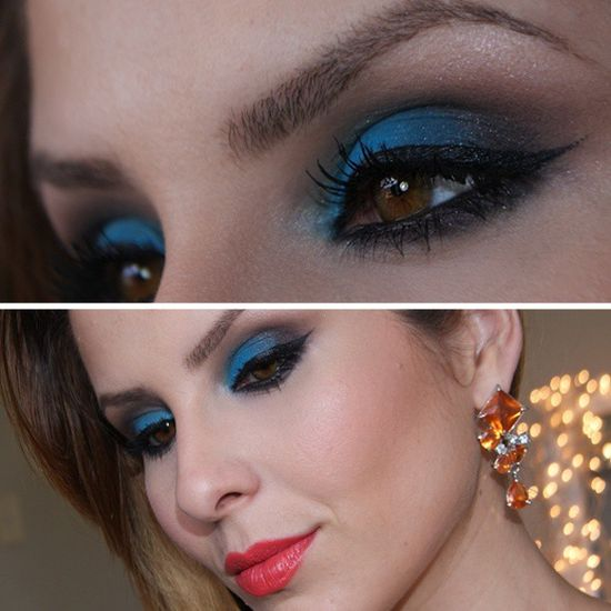 Blue eye makeup @ claudiaguillenmakeup