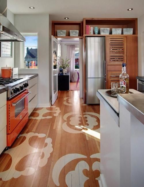 painting wooden floors, modern ideas for floor decoration with
