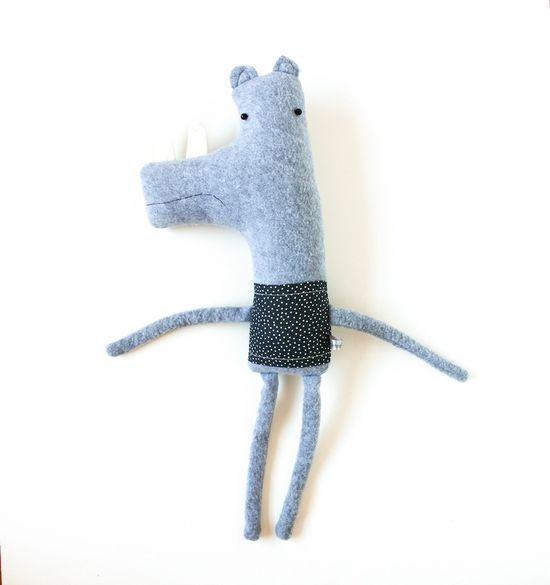 Handmade Plushy Rhino Friend
