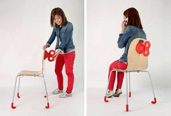The WindUp Chair by Pega D&E Harness Physical Exertion for Energy trendhunter.com