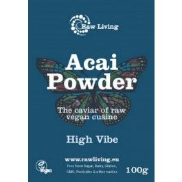 Acai Powder Vegan Sambazon's Freeze Dried Açaí Powder is the premium source of organic açaí berries in a whole-food supplement form. Because Sambazon's Freeze Dried Açaí Powder is not an extract, it delivers the full synergy of powerful antioxidants, essential and healthy fats, fibbers and proteins found only in açaí. Using a non-thermal drying process, we deliver the pure organic health properties of açaí in powder that can be put in any beverage.