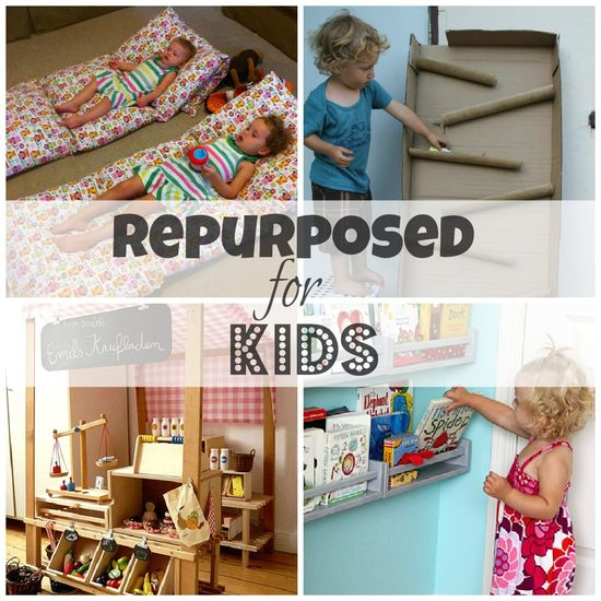 20 #Repurposed Projects For #Toddlers: #DIY & Ready-Made #Kids #Children #Upcyle