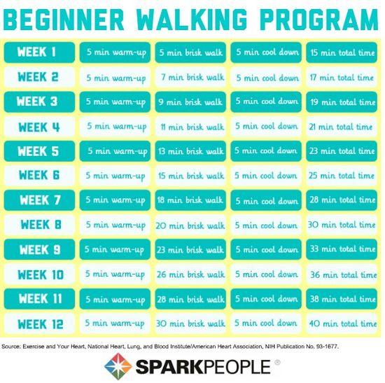 12-Week Beginner #Walking Program