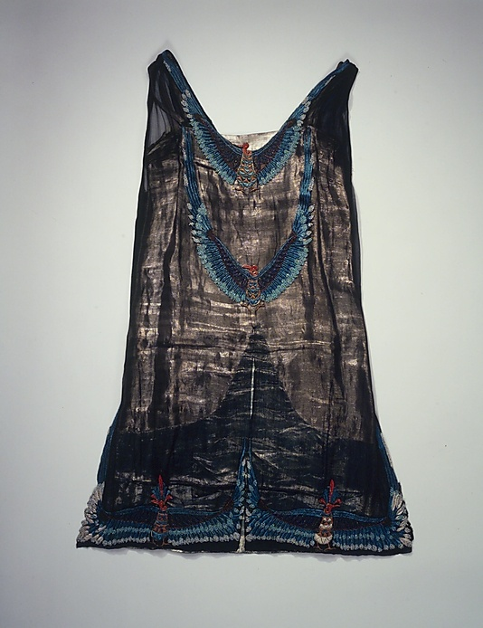 Evening dress. Thurn  (American)  Date: 1923–26. Egyptian revival