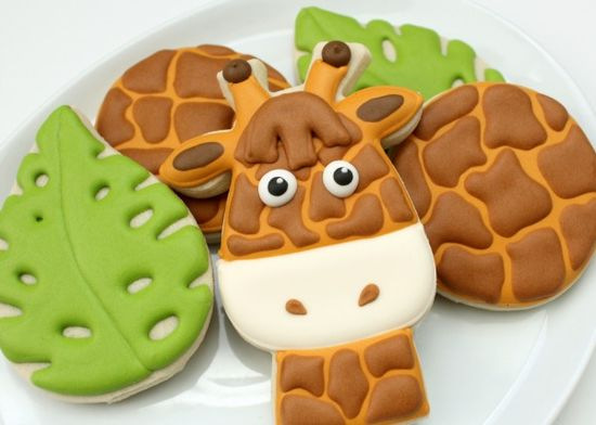 How to make giraffe print cookies. Galletas de la selva, jirafas, galletitas