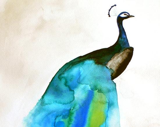 Peacock Painting - Peacock II