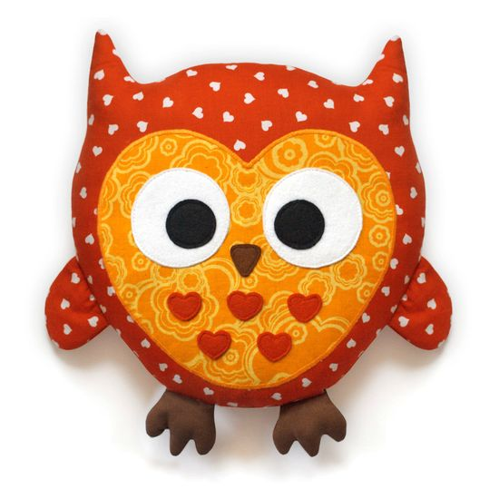 Owl sewing pattern - stuffed animal tutorial PDF.