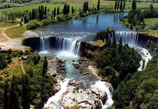 Laja Falls located in the Laja River in southcentral Chile