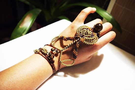 Handpiece Tribal Belly Dance bracelet/Gipsy Goddess by GipsyGreen