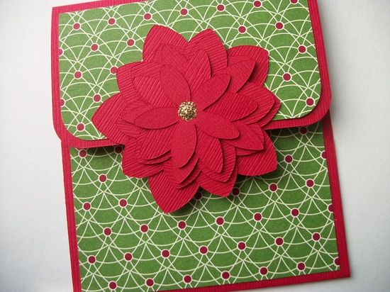 Gift Card Holder, Christmas Gift Card Holder, Merry Christmas Gift Card Holder, Red Christmas, X-Mas Gift Card Holder. $3.00, via Etsy.