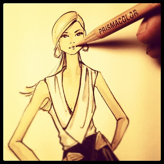 Fashion Illustration for a charity fashion show -Instagram images by @Brooke Hagel (Brooke Hagel)