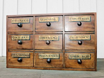 Mid-19th-Century Storage Chest  $1,000  Crafted of mahogany and pine, this piece relied on square nails as well as handmade dovetail joints for its construction, which suggests that the unit hails from the
