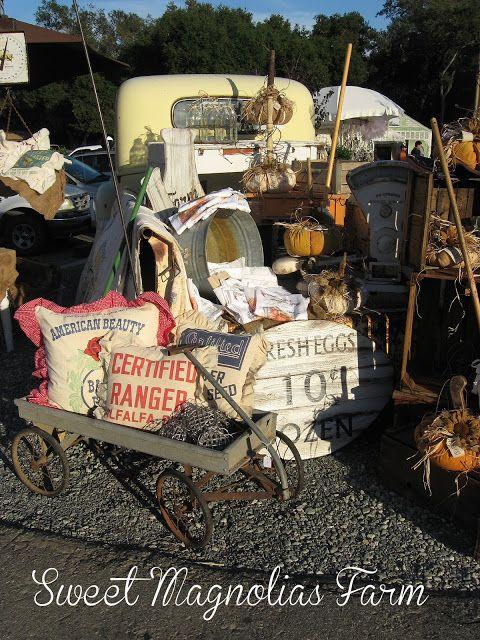 "Sweet Magnolias Farm setup ""The Vintage Marketplace"" at the Oaks Sept. 2013"