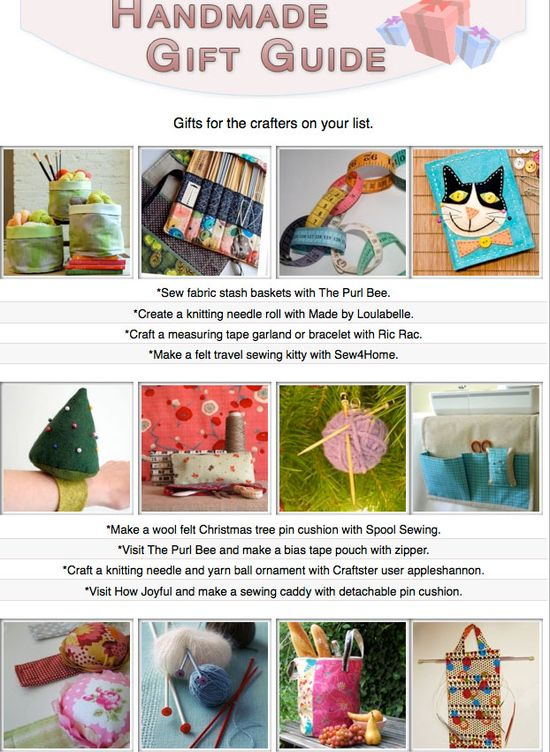 16 free tutorials for diy gifts you can make for the crafters on your list!