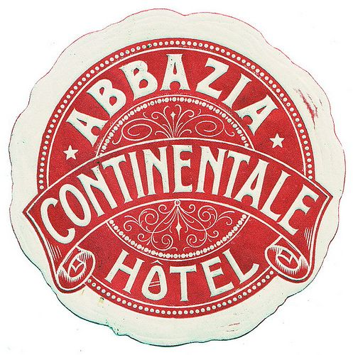 Abbazia - Hotel Continentale by Luggage Labels