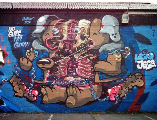 Amazing Street Art - Mr Pilgrim Graffiti Art / Urban Art #graffiti #streetart #art #painting More on www.mrpilgrim.co.uk