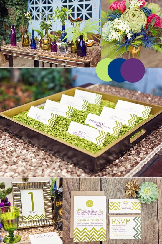 Pea Green Wedding Ideas