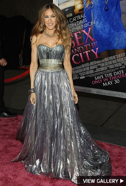 Sarah Jessica Parker in Nina Ricci, Sex And The City premiere at Radio City Music Hall 2008