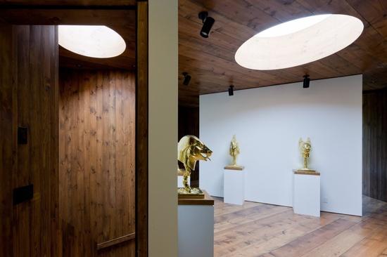 Guesthouse / HHF architects + Ai Weiwei #skylight #wood