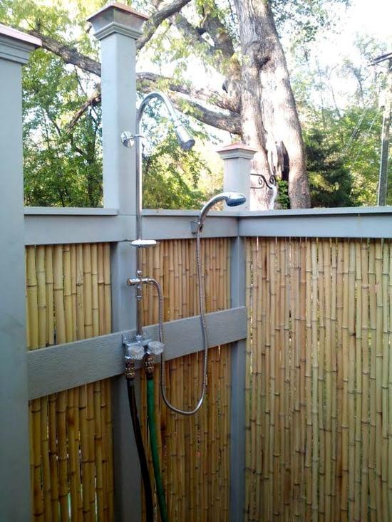 outdoor diy shower