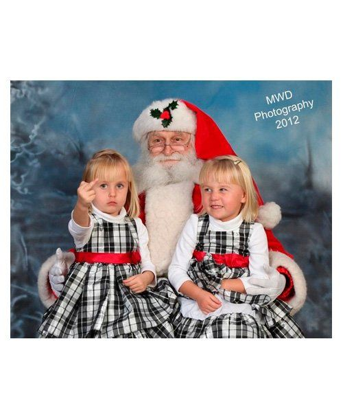 Funny Photos With Santa