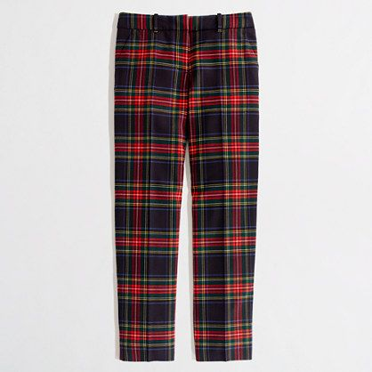 Factory skimmer pant in Black Watch plaid