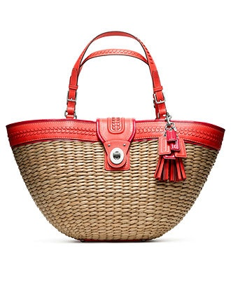 COACH STRAW EDITORIAL XL TOTE - Beach Handbags - Handbags & Accessories - Macys