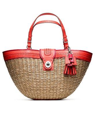 COACH STRAW EDITORIAL XL TOTE - Beach Handbags - Handbags & Accessories - Macys