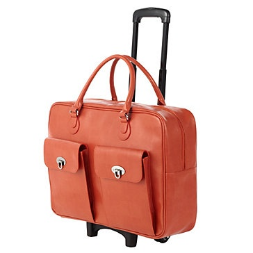 For weekend travel or airplane carry-on, our new Parker Trolley Bag keeps travel fashionable. $149.95