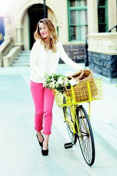 Lauren Conrad in pretty pink jeans!
