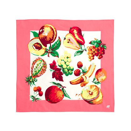 Madewell Fresh Fruit Bandana
