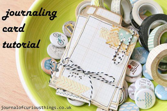 Journaling  cards tutorial.