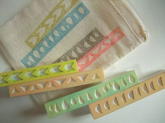 GEOMETRIC hand carved rubber stamp handmade rubber by talktothesun, $16.00