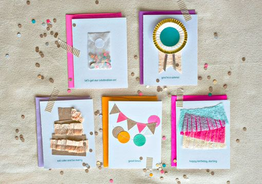 super duper fun handmade greetings by Sam Dubeau via designworklife