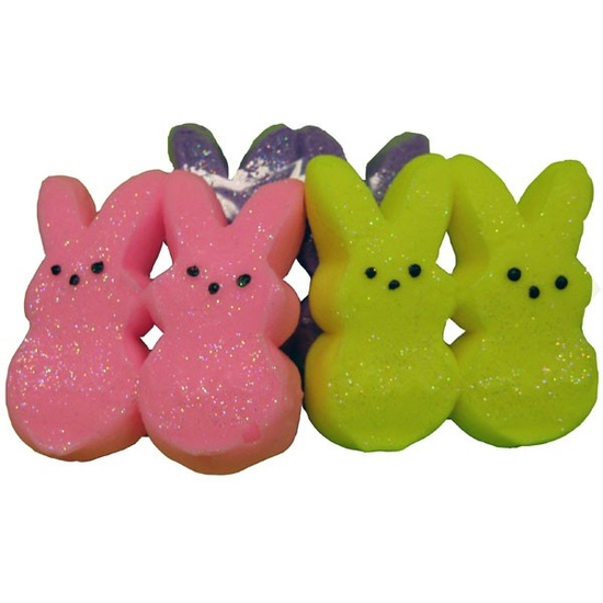 Marshmallow Bunny Soaps 8 sets 2 FREE, Easter soap, Peeps, peep soap, marshmallow soap. $30.00, via Etsy.