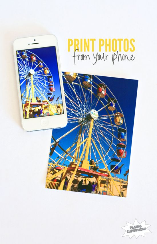 How to Print Photos Right from your Phone at PagingSupermom.com