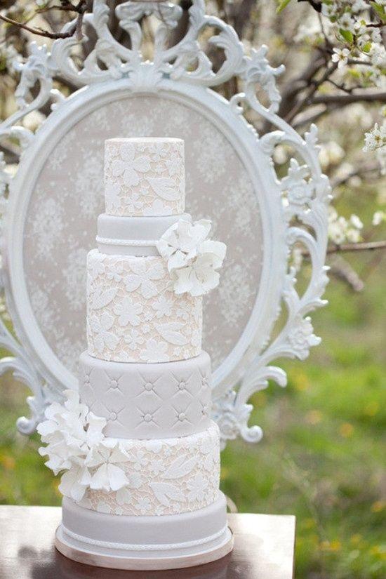 unique lace wedding cakes