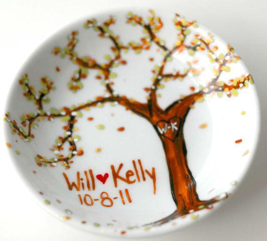 Custom Painted Ring Dish by MaryElizabethArts on Etsy, $45.00