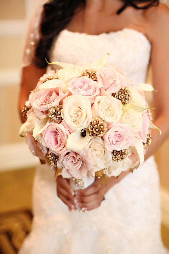 Romantic fall bouquet with a little bling. #Bridalbouquets. #Weddingbouquets. #celebstylewed. #celebrityweddings. Pinterest...