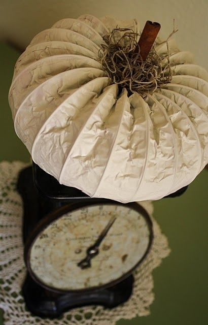 dryer vent pumpkin tutorial - great industrial-style decor!