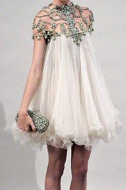 Short glam, bling dress.