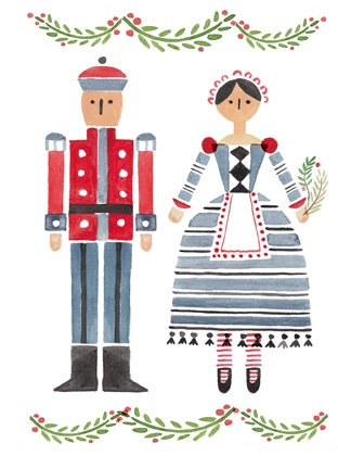 Nutcracker Christmas Card by BowandArrowPress on Etsy